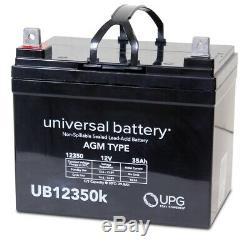 2pqt Nouveau 12v 35ah 12 Volt 35 Ampères-heure Batterie Électrique Fauteuil Roulant Scooter U1