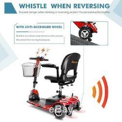 3 Roues Scooter Électrique Mobile Power Fauteuil Roulant Pour Les Personnes Âgées Adultes Red