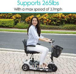 3-wheel Adult Electric Mobility Scooter Mobile Wheelchair Folding Long Range Nouveau
