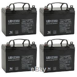 4 Pack 12 Upg Volt 35 Amp Hour Batterie Fauteuil Roulant Électrique Scooter U1