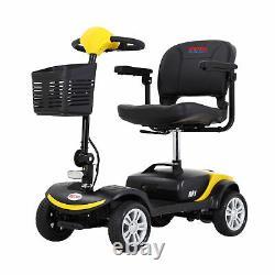 4 Roue Pliante Fauteuil Roulant Mobilité Scooter Électrique Powered Travel Elder 300w