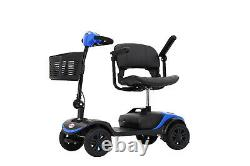 4 Roues Mobilité Scooter Powered Wheelchair Electric Device Compact For Travel