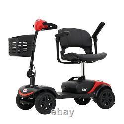 4 Roues Mobilité Scooter Puissance Chaise Roue Appareil Électrique Compact Pour Le Voyage
