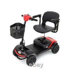 4 Roues Pliage Électrique Mobilité Scooter Transport Travel Wheel Chair États-unis