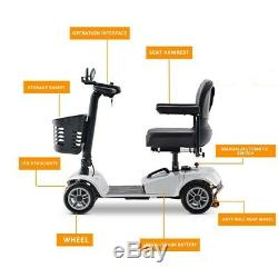 4 Roues Scooter Électrique De Mobilité Powered Fauteuil Roulant Pour Adultes Voyage Personnes Âgées
