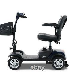 4 Wheel Mobility Scooter Electric Powered Wheelchair Device 265lbs Poids Bleu