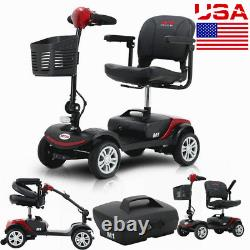 4 Wheel Mobility Scooter Electric Powered Wheelchair Device Travel Compact (en Italien)