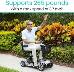 4-wheel Adult Electric Mobility Scooter Mobile Wheelchair Heavy Duty Long Range