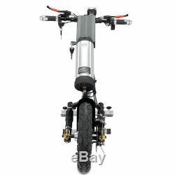 48v / 10ah 350w Connectable Électrique Scooter Handbike Vélo À Main En Fauteuil Roulant 12 Pneus