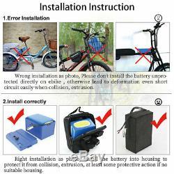 48v 20ah Ebike Batterie Pour 1000w 1500w 1800w Scooter Électrique Trike Fauteuil Roulant