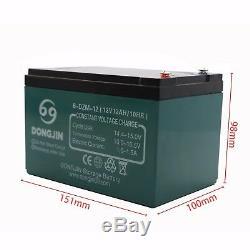 4pcs 12v 12ah 6-dzm-12 Batterie Pour Fauteuil Roulant Électrique Scooter Go Kart Vtt Mower