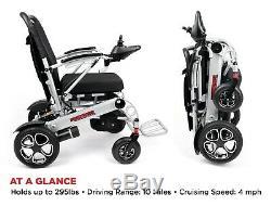 Deluxe Ranger Pliant Motorisé Fauteuil Roulant, Scooter Électrique Compacte Et Légère