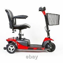 Fauteuil Roulant Mobile Électrique De Scooter De Mobilité De 3 Roues Pour Les Personnes Âgées Adultes Red