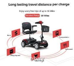 Fold And Travel Puissance 4 Roues Mobilité Scooter Électrique Chaise De Roue Léger