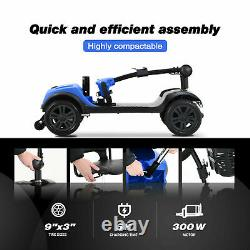 Fold Travel Electric 4 Roues Mobilité Scooter Power Chaise Roue Léger USA