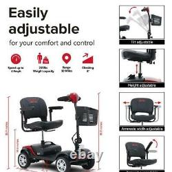 Foldable 4 Roues Electric Wheelchair Powered Mobility Scooter Compact Device États-unis