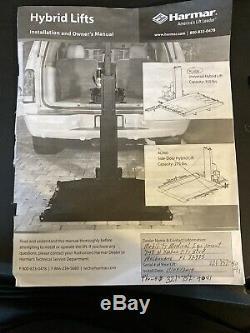 Harmar Al600 Ascenseur Plate-forme Électrique Pour Scooters En Fauteuil Roulant