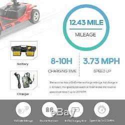 Nouveau 3 Roues Scooter Électrique Powered Dispositif Fauteuil Roulant Pliant Mobile
