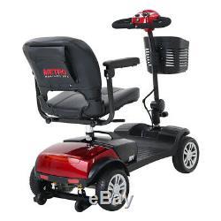 Nouveau 4 Roues Mobility Scooter Électrique Powered Dispositif Fauteuil Roulant Pliant Mobile