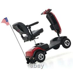 Nouveau 4 Roues Travel Mobility Scooter Portable Mobile Wheelchair Device Folding