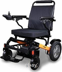 Nouveau Ewheels Ew-m45 Fauteuil Roulant Électrique Pliant Avec Sac De Rangement Orange