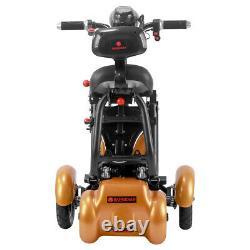 Nouveau Pliage Électrique Alimenté Scooter De Mobilité 4 Roues Voyage Vieux Scooter