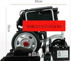 Portable Pliant D'énergie Électrique Fauteuils Roulants Personnes Âgées Handicapés Scooter Double Motors