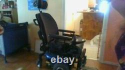 Pride Jazzy J6 Electric Wheelchair, Large, Black, Est Livré Avec Rembourrage De Siège
