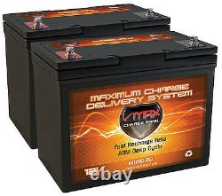 Qty2 Vmax Mb96 Batteries Agm 12v Ea For 24v Levo Combi Power Scooter En Fauteuil Roulant