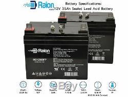Raion 12v 35ah Mobilité Électrique Rascal 600t Intérieur / Extérieur Scooter Batterie 2pqt
