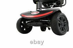 Scooter De Mobilité 4 Roues Alimenté En Fauteuil Roulant Appareil Électrique Utilisation Compacte Voyage