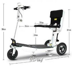 Scooter De Mobilité Pliant Électrique 3 Roues 48v 3 Vitesses Fauteuil Roulant E-scooter 350w