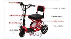 Scooter Électrique Pliable 3 Roues Pliantes Portables Voyage Accueil Mobilité Personnes Âgées2