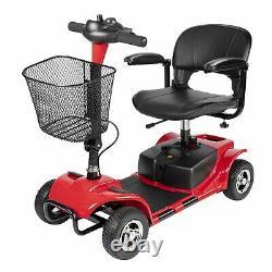 Us Pliage 4 Roues Électrique Moteur Scooter Roulant Scooter Pour Adultes Rouge