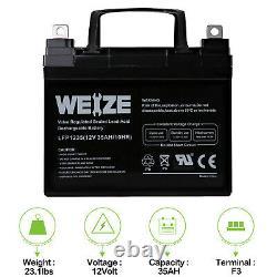 Weize 12v 35ah U1 Batteries Électrique Scooter Paire 2